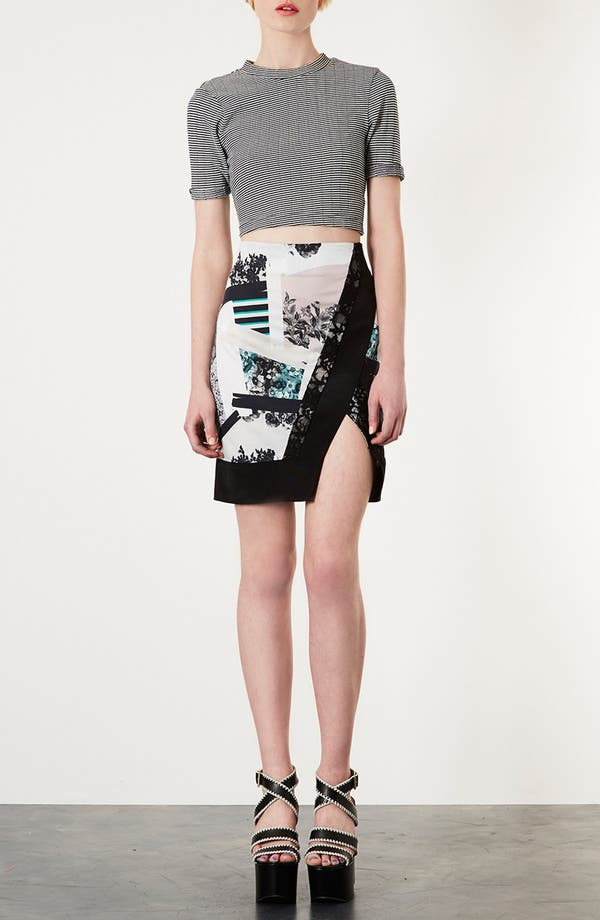 Alternate Image 4  - Topshop 'Paint Stroke' Pencil Skirt