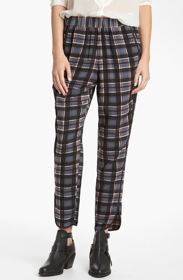 Alternate Image 1 Selected - WAYF Piped Plaid Pants