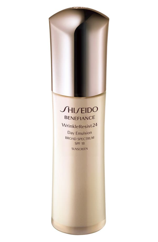 Alternate Image 1 Selected - Shiseido 'Benefiance WrinkleResist24' Day Emulsion SPF 18