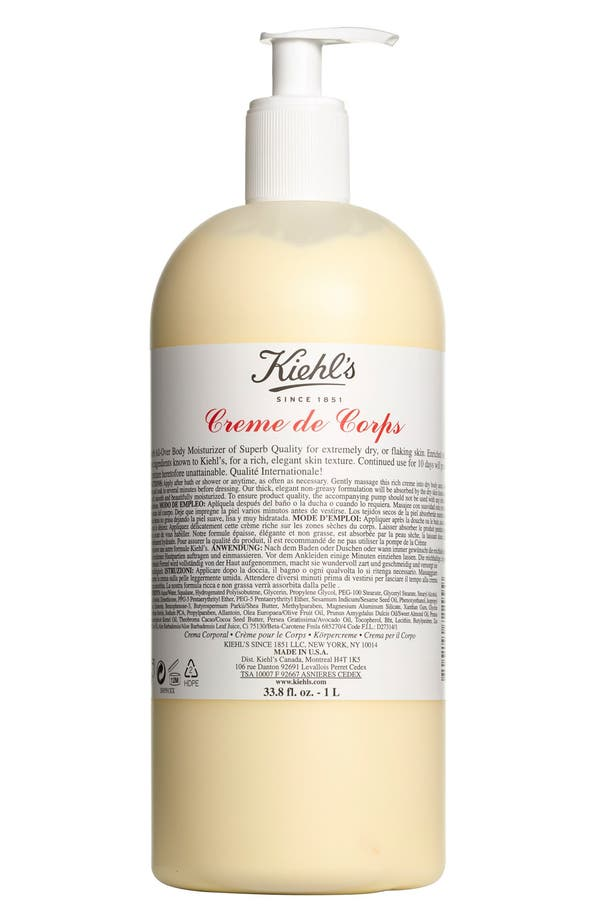 Main Image - Kiehl's Since 1851 Jumbo Creme de Corps with Pump ($96 Value)