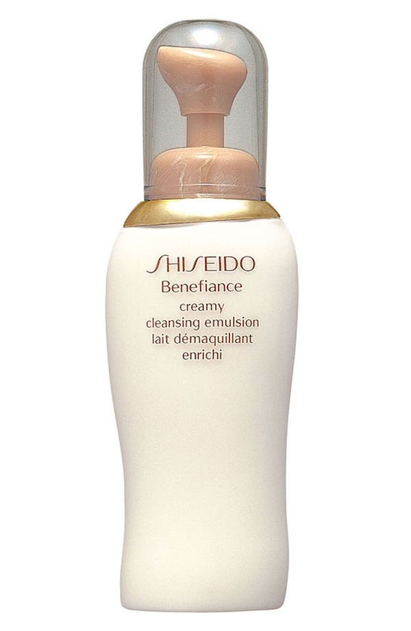 Main Image - Shiseido 'Benefiance' Creamy Cleansing Emulsion