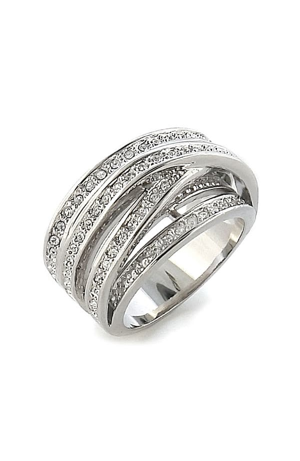 Main Image - Ariella Collection Crossing Pavé Cubic Zirconia Ring