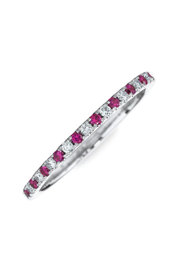 Main Image - Kwiat Diamond & Ruby Stackable Ring
