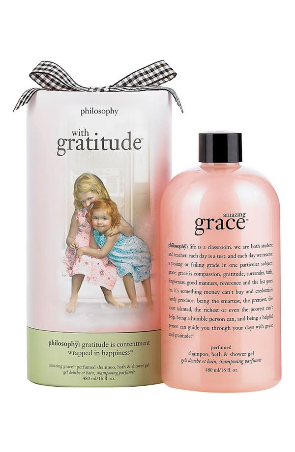 Alternate Image 1 Selected - philosophy 'with gratitude - amazing grace' shampoo, bath & shower gel