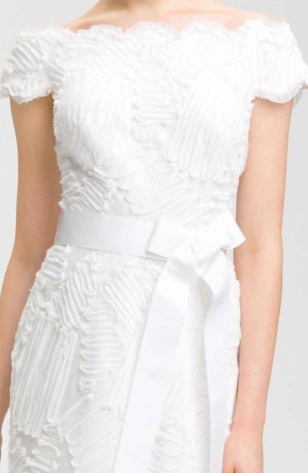 Alternate Image 2  - Tadashi Shoji Cap Sleeve Bow Belt Dress