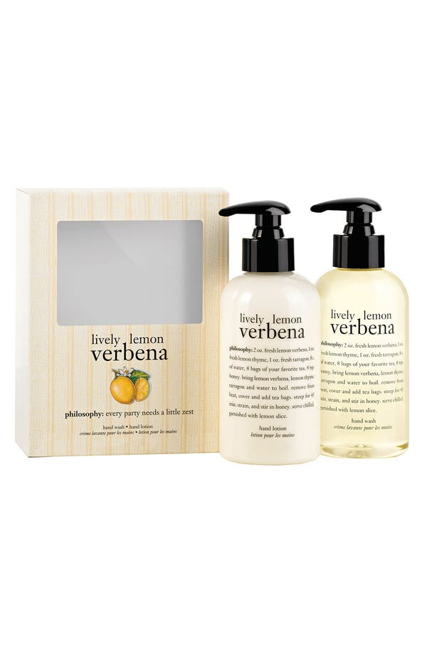 Alternate Image 1 Selected - philosophy 'lively lemon verbena' hand care set