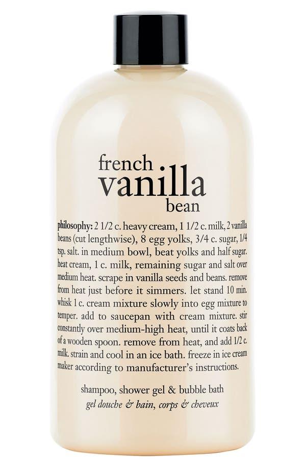 Alternate Image 1 Selected - philosophy 'french vanilla bean' shampoo, shower gel & bubble bath