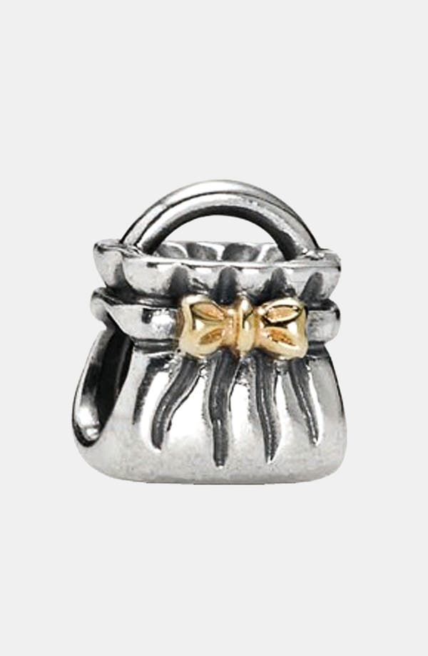Alternate Image 1 Selected - PANDORA Bow Detail Purse Charm