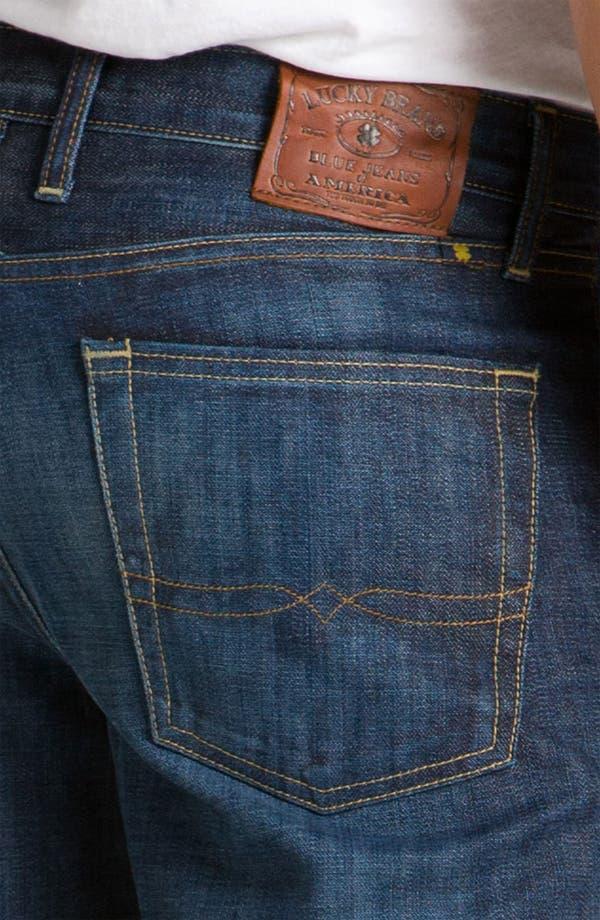 Alternate Image 4  - Lucky Brand '361 Vintage' Straight Leg Jeans (Dark Creek)