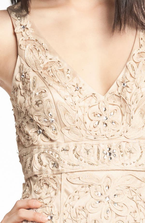 Alternate Image 3  - Sue Wong V-Neck Embroidery & Bead Overlay Gown
