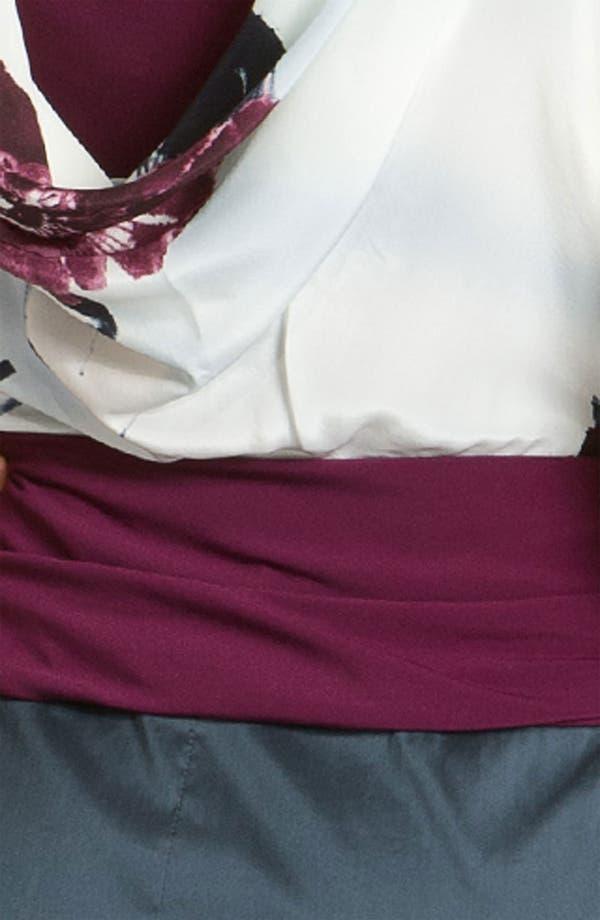 Alternate Image 3  - Suzi Chin for Maggy Boutique Draped Mixed Media Dress
