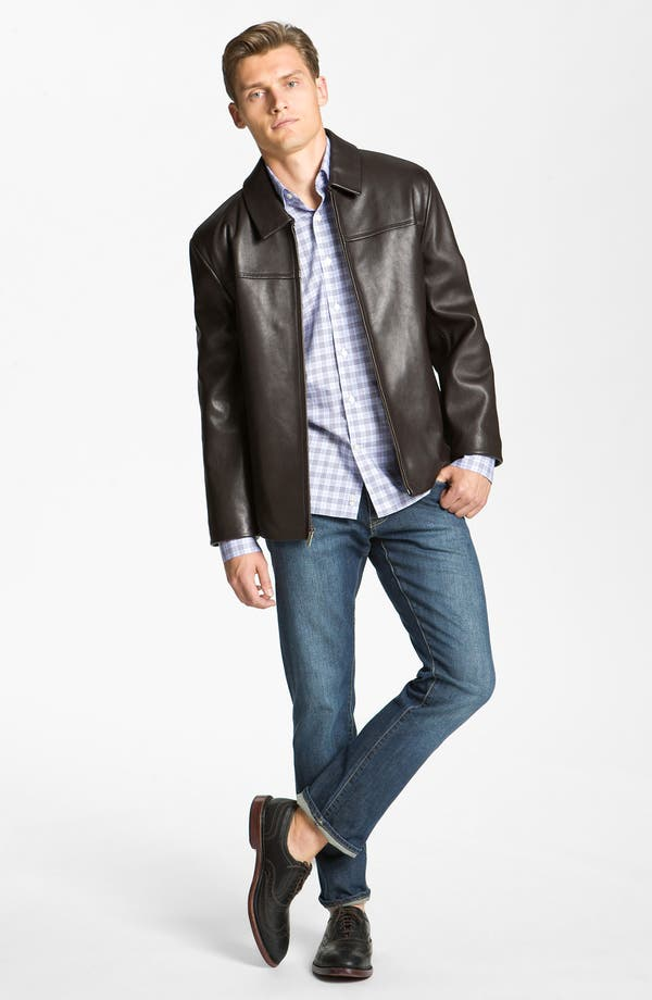Alternate Image 4  - Cole Haan Leather Jacket (Online Exclusive)