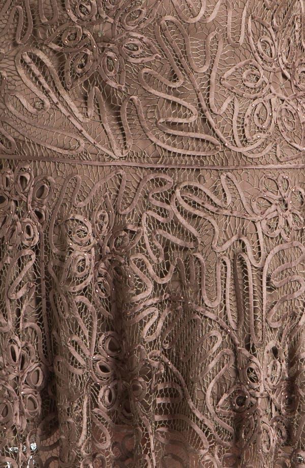 Alternate Image 3  - Soulmates Beaded Crochet Silk Dress & Bolero (Plus)