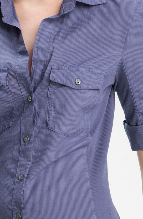 Alternate Image 3  - James Perse Stripe Contrast Panel Shirt