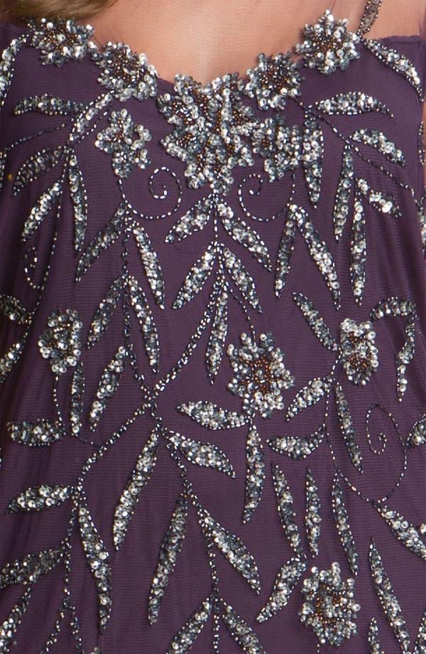 Alternate Image 3  - Pisarro Nights Beaded Illusion Dress (Plus)