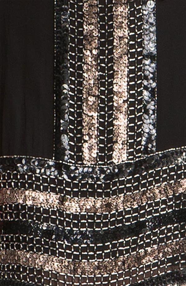 Alternate Image 3  - Adrianna Papell Embellished Silk Chiffon Shift Dress