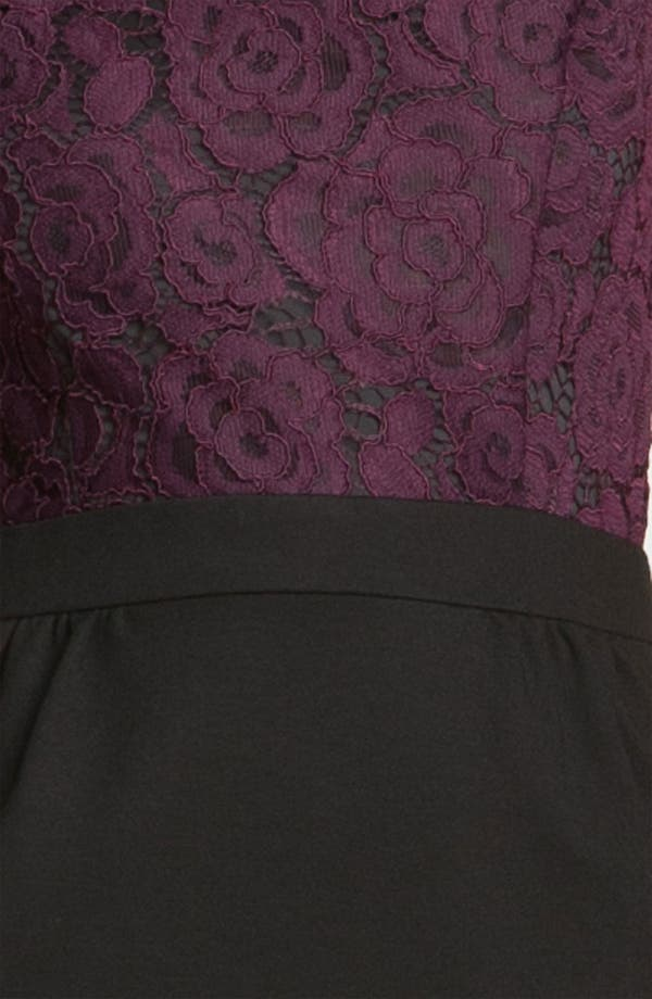 Alternate Image 3  - Trina Turk 'Fable' Lace & Ponte Sheath Dress