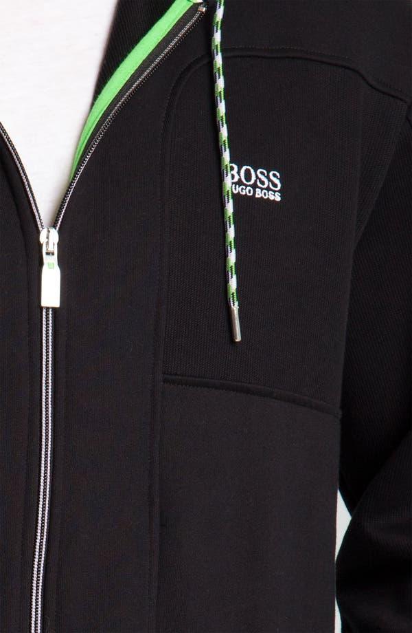 Alternate Image 3  - BOSS Green 'Saggy' Zip Hoodie