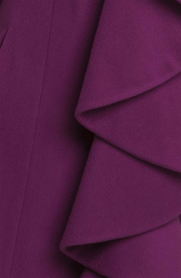 Alternate Image 3  - Helene Berman Ruffle Front Coat