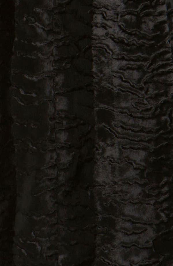 Alternate Image 3  - Gallery Faux Persian Lamb Fur Coat