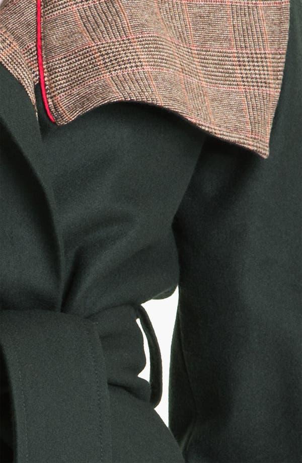 Alternate Image 3  - Ted Baker London Plaid Trim Wrap Coat