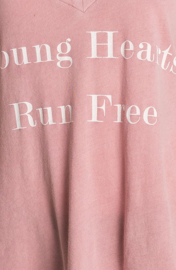 Alternate Image 3  - Wildfox 'Run Free' Deep V-Neck Tee