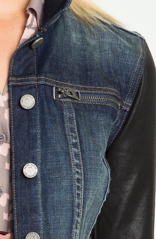 Alternate Image 3  - Paige Denim Coated Sleeve Denim Jacket (Owen)