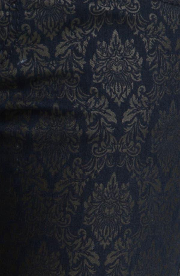 Alternate Image 3  - Wit & Wisdom Brocade Print Skinny Jeans (Indigo) (Nordstrom Exclusive)