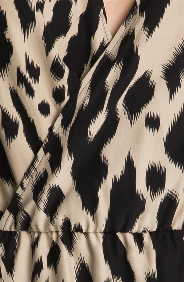 Alternate Image 3  - Parker Faux Wrap Print Silk Dress
