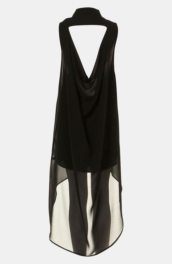 Alternate Image 2  - Topshop Open Drape Back Shirtdress