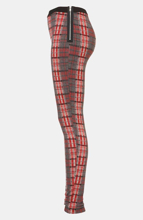 Alternate Image 4  - Topshop Tartan Leggings