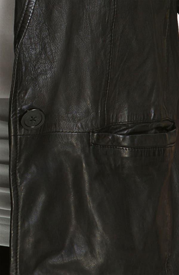Alternate Image 3  - MICHAEL Michael Kors Leather Blazer (Plus)