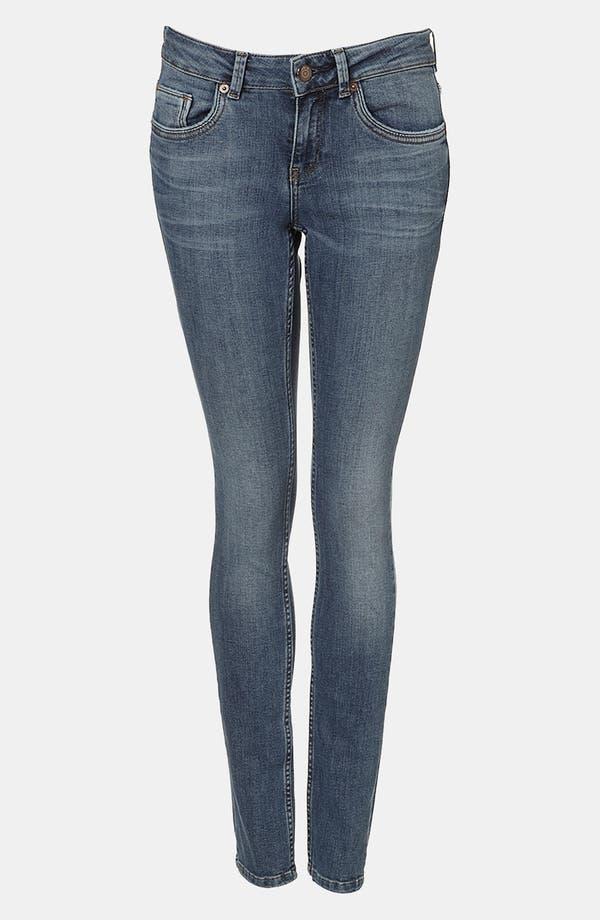 Main Image - Topshop Moto 'Baxter' Skinny Jeans (Midstone)