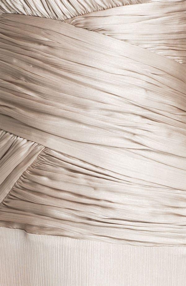 Alternate Image 3  - Calvin Klein Ruched Bodice Textured Column Gown