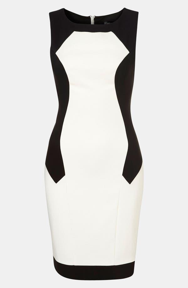 Main Image - Topshop Colorblock Illusion Dress