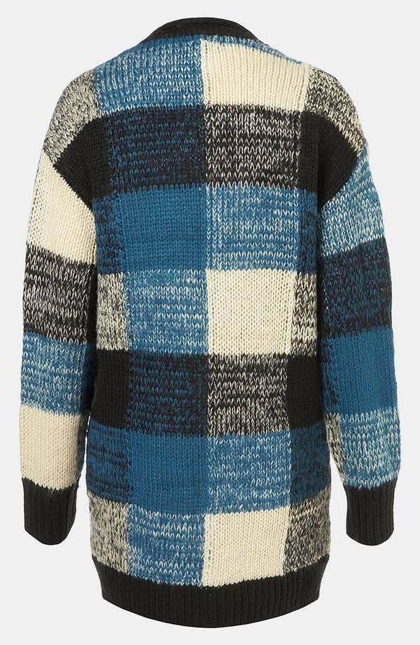 Alternate Image 2  - Topshop Oversized Plaid Cardigan