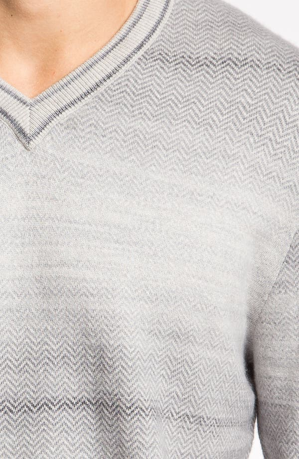 Alternate Image 3  - Hickey Freeman V-Neck Herringbone Sweater
