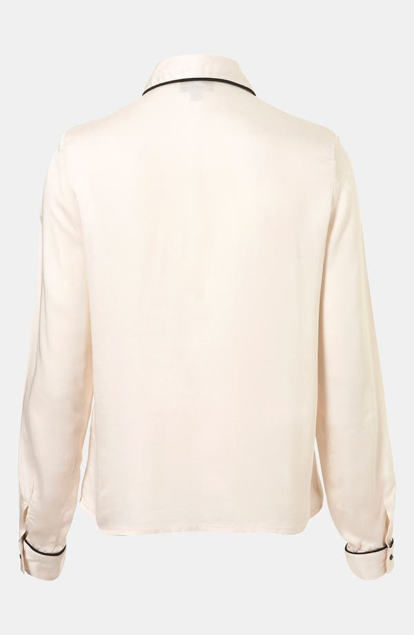 Alternate Image 2  - Topshop 'Emily' Piped Shirt