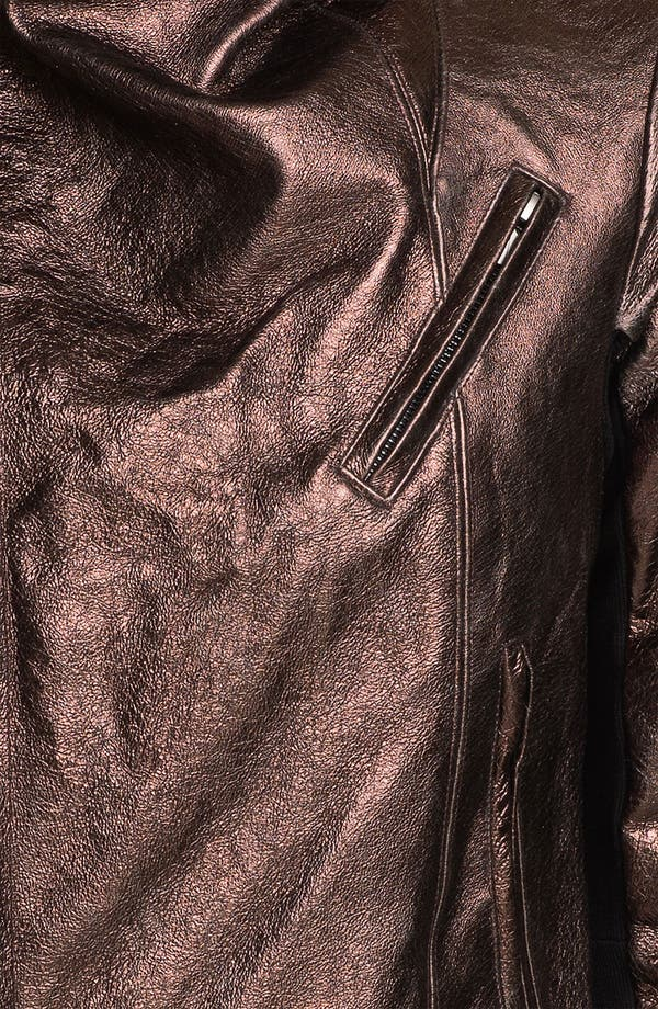 Alternate Image 4  - Veda 'Max' Metallic Leather Moto Jacket