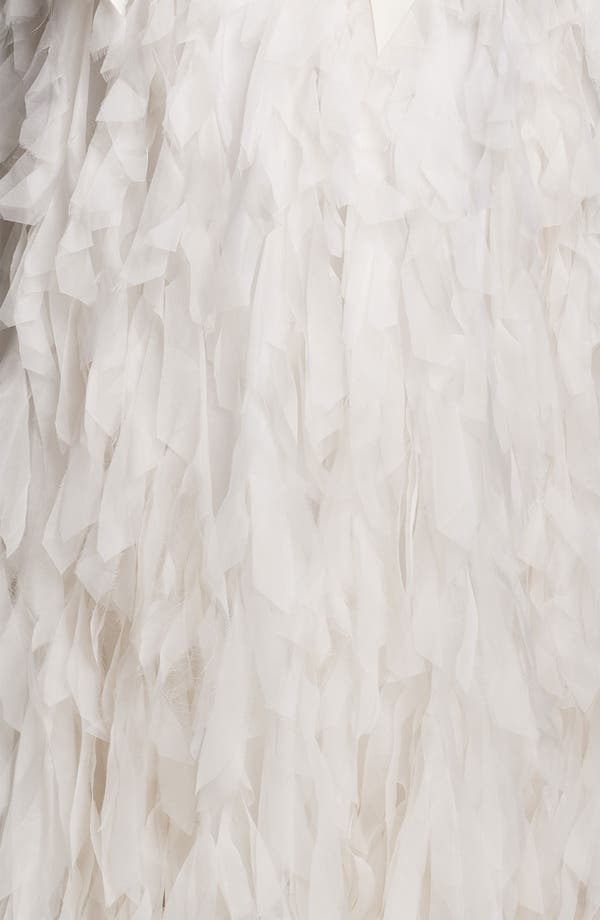 Alternate Image 3  - Tadashi Shoji Strapless Raw Edge Organza Gown