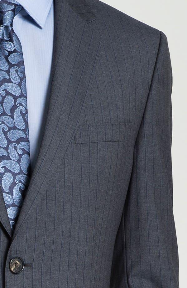 Alternate Image 6  - BOSS Black 'James/Sharp' Trim Fit Stripe Suit