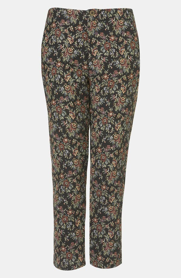 Main Image - Topshop Tapestry Print Skinny Pants