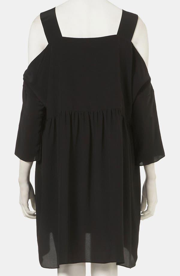 Alternate Image 2  - Topshop Boutique 'Pinny' Cutout Shoulder Dress