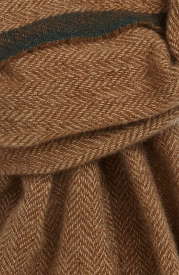 Alternate Image 2  - Polo Ralph Lauren Herringbone Wool & Cashmere Scarf