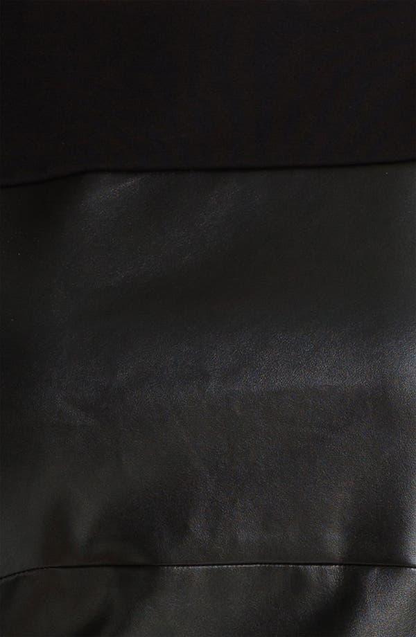 Alternate Image 3  - DKNYC Faux Leather Dress (Plus)
