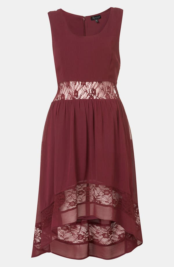 Main Image - Topshop Lace Inset Dress