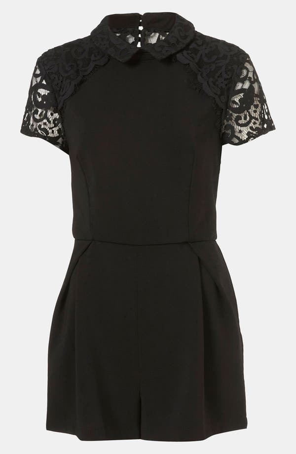 Alternate Image 1 Selected - Topshop Lace Yoke Romper