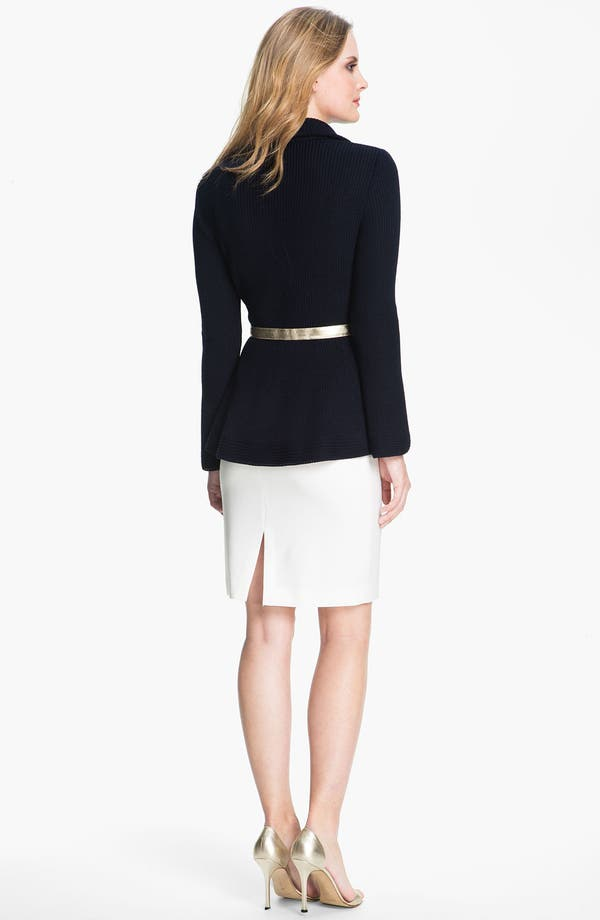 Alternate Image 4  - St. John Collection Crepe Marocain Pencil Skirt