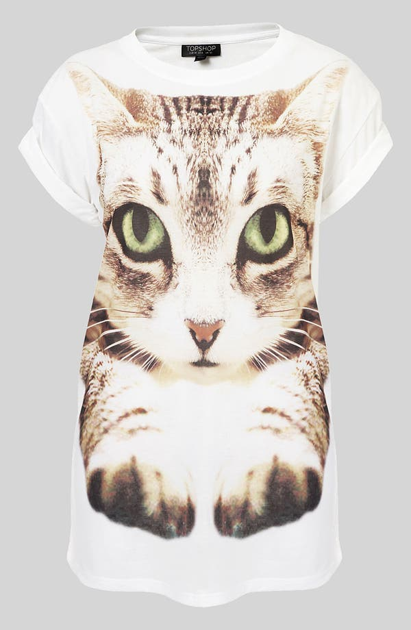 Alternate Image 1 Selected - Topshop Cat Photo Tee