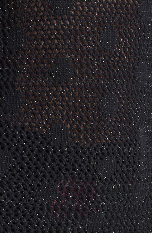 Alternate Image 3  - Moschino Cheap & Chic Dot Metallic Mesh Pullover
